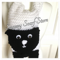 Hand Knitted Sheila The Sheep Scarf