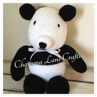 Hand Knitted Cuddly Percy The Panda