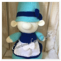 Hand Knitted Cuddly Nora The Gnome