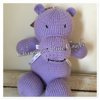 Hand Knitted Cuddly Honey The Hippo
