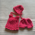 "A sweet little 3 piece outfit for a 12"" doll."