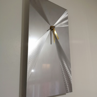 Supernova by Christopher Henderson - Stainless Steel Metal Art Wall Clock