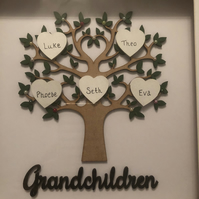 Grandchildren family frame