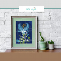 Bloom where you are planted -Scripture print home decoration