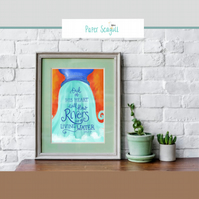 Living water -Scripture print home decoration