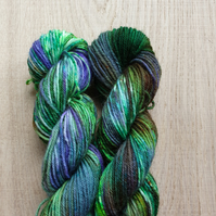 'Enchanted Forest' Hand dyed Bluefaced Leicester & Nylon Mini Skein