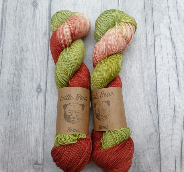 'Father Yule'  - Hand Dyed - Merino Wool 4Ply Sock