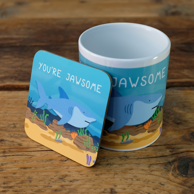 Funny Mug - Shark - You're Jawsome