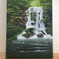 Waterfall - Acrylic Painting on Canvas 8x6inches