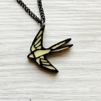 Geometric Bird Necklace - Origami pendant