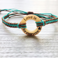 Love is for Everyone LGBT Bracelet
