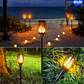 Solar Path Torch Lights 96 LED Dancing Flame Lighting
