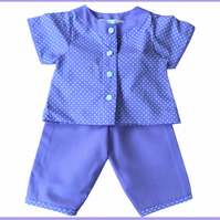 2 Piece Lilac and White Polka Dot Pyjamas