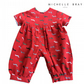 Red short sleeved babygrow with all over print