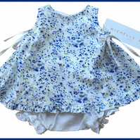 2 piece blue summer dress and panties 3M,6M,12M,18M,2Y