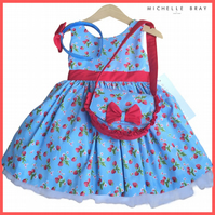 Dress Handbag and Headband matching set 3 Years