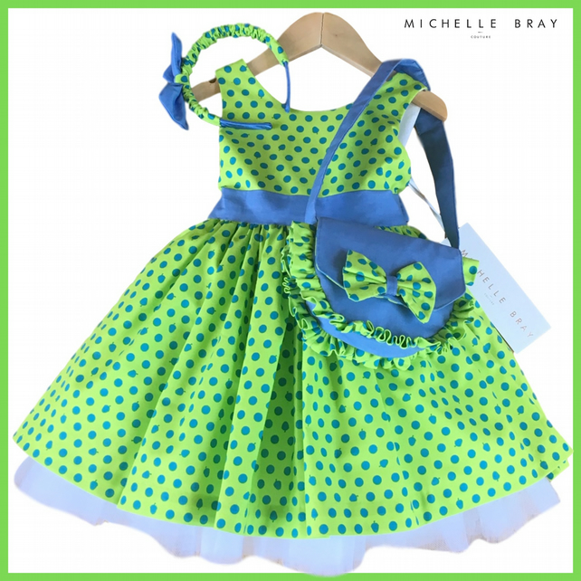 Dress Handbag and Headband matching set 4 Years