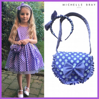Dress Handbag and Headband set 5 Years