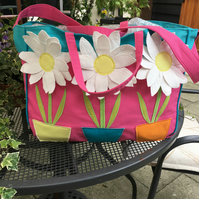 Flower Power Beach Tote bag