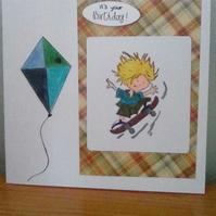 Boy-man birthday card