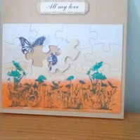 Jigsaw 3d card, All my love