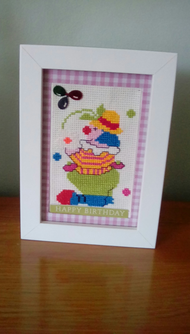Framed Clown piicture