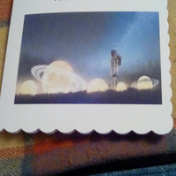 Personalised Astronaut card