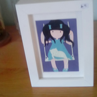 Gorjuss Girl framed picture