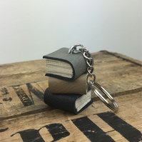 Miniature Book Stack Keyring