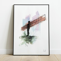Angel Of The North, Art Print