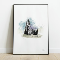 St Nicholas' Cathedral, Art Print