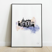 St Philip's Cathedral, Art Print