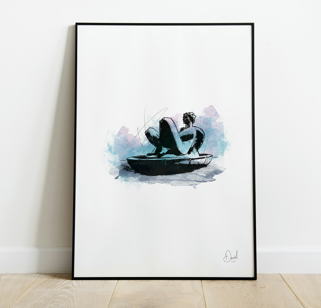 Floozie In The Jacuzzi, Art Print