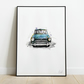Mini Feeling Blue Art Print