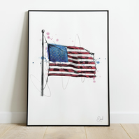 Stars And Stripes, Art Print