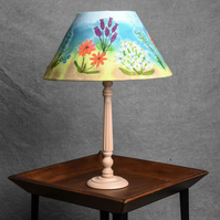 Table Lamp with Flowers