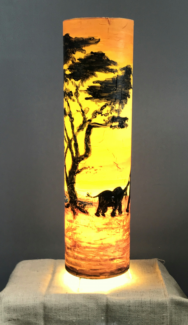 African Sunset Floor Lamp