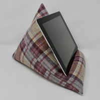 iPad Stand, Tablet Stand, Tweed iPad Cushion, Home Office, Tech Gift