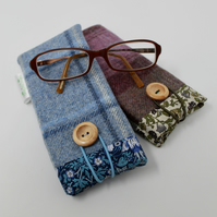 Tweed Glasses Case, Spectacle Case, Liberty Fabric Gifts, Tweed Gifts