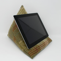 Tweed Tablet Stand, Green iPad Stand, Home Office, Video Conferencing