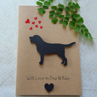 A Labrador Greeting Card, 3-D Birthday card for a Dog Lover
