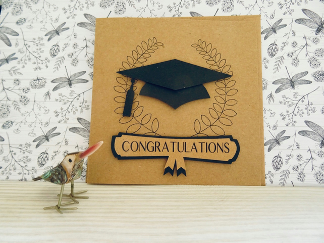 Graduation Cap Greeting Card