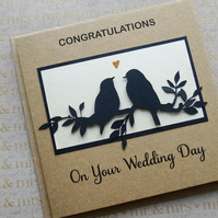 Wedding Card- Birds on a Branch