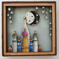 Temple, Arabian night themed shadow box