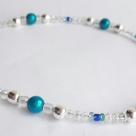 Sparkle and Blue Anklet