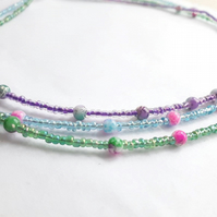 Triple Stranded Necklace