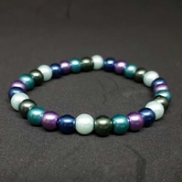 Pearlescent Blue, Green and Purple Bracelet