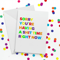 Shit Time Get Well Soon Card