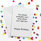 Start Lying Birthday Card