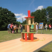 Wooden Stagger - Extraordinary Wooden Games! Colorful construction games
